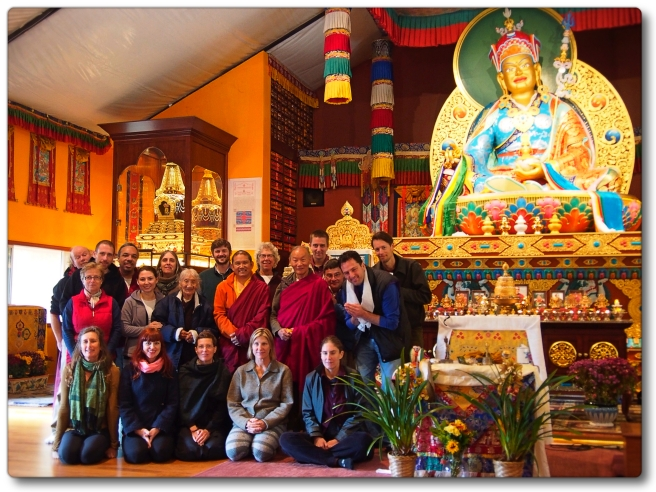 Tulku Thadral Rinpoche with Sunday accumulation group